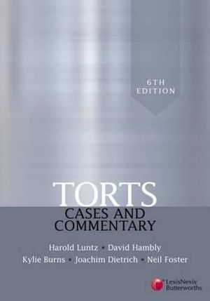 Cover of Torts: Cases and Commentary - 6th edition
