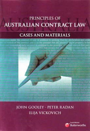 Cover of Principles of Australian Contract Law