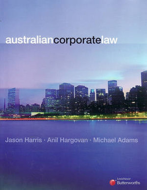 Cover of Australian Corporate Law
