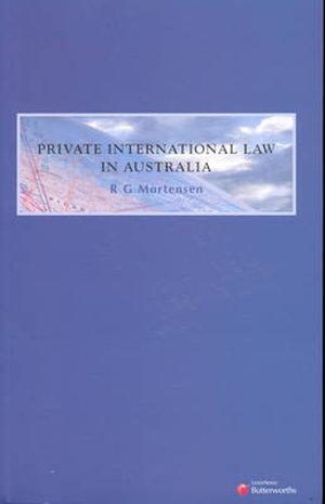 Cover of Private International Law in Australia