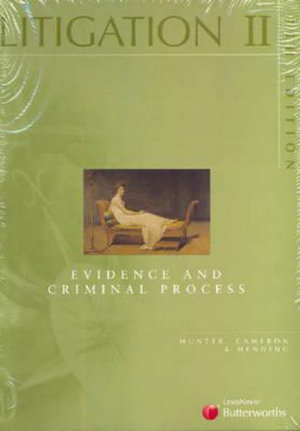 Cover of Litigation II: Evidence and Criminal Process