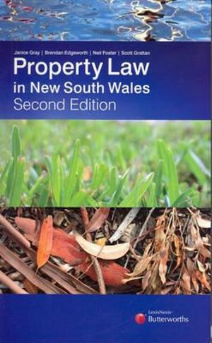 Cover of Property Law in New South Wales