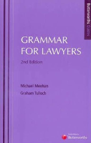 Cover of Grammar for Lawyers - 2nd edition