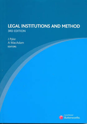 Cover of Legal Institutions and Method
