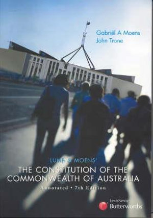 Cover of Lumb and Moens' The Constitution of the Commonwealth of Australia Annotated
