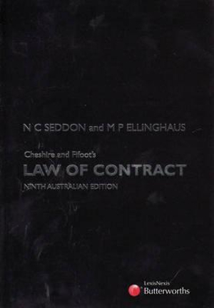 Cover of Cheshire and Fifoot's Law of Contract
