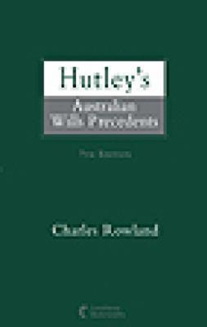 Cover of Hutley's Australian Wills Precedents - 7th Edition (Softcover)