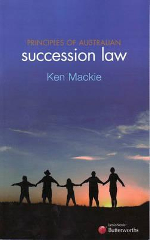 Cover of Principles of Australian Succession Law