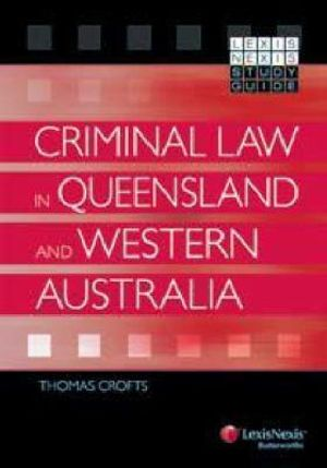 Cover of Criminal Law in Queensland and Western Australia