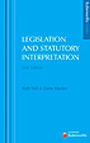 Cover of Butterworths Guides to Legislation & Statutory Interpretation - 2nd Edition