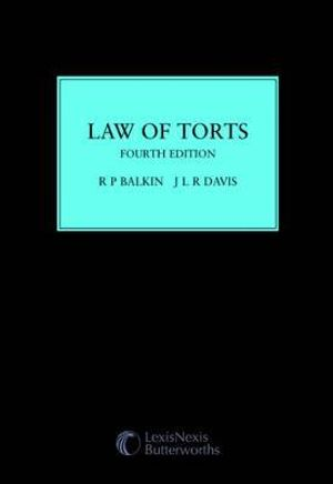 Cover of Law of Torts - Fourth Edition  (Softcover)