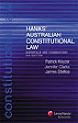 Cover of Hank's Australian Constitutional Law: Materials and Commentary - Eighth Edition