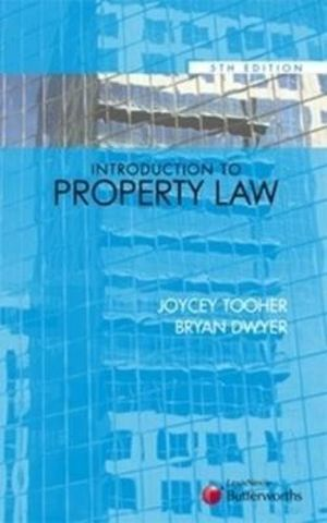 Cover of Introduction to Property Law