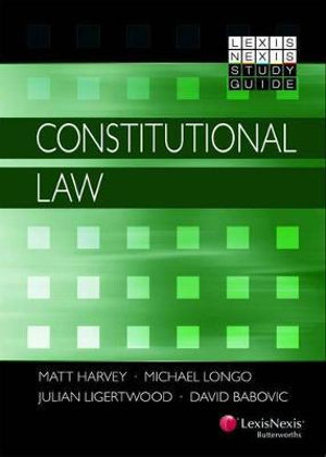 Cover of LexisNexis Study Guide: Constitutional Law