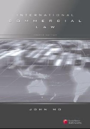 Cover of International Commercial Law - 4th ed