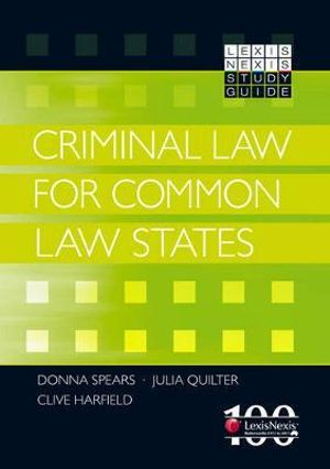Cover of LexisNexis Study Guide: Criminal Law for Common Law States