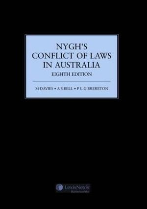 Cover of Nygh's Conflict of Laws in Australia - 8th Edition (Softcover)