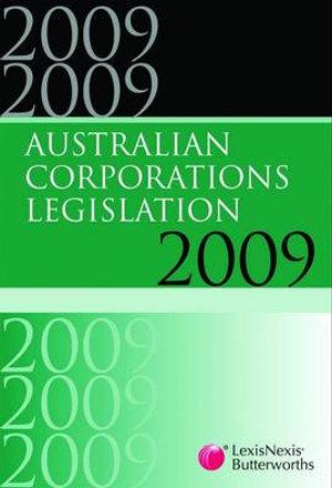 Cover of Australian Corporations Legislation 2009