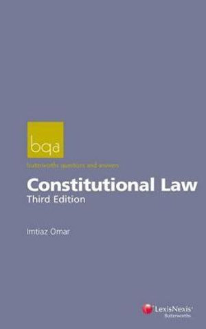 Cover of Butterworths Questions and Answers: Constitutional Law - Third Edition