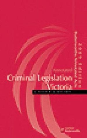 Cover of Annotated Criminal Legislation Victoria 2009