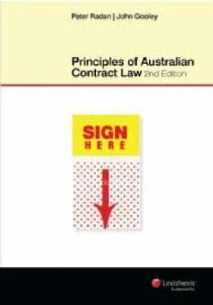 Cover of Principles of Australian Contract Law - Second Edition