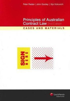 Cover of Principles of Australian Contract Law: Cases and Materials - Second Edition