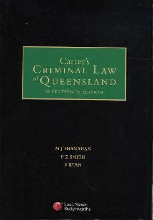Cover of Carter's Criminal Law of Queensland