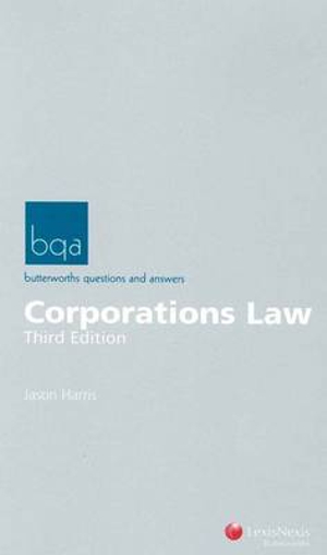 Cover of Butterworths Questions and Answers:  Corporations Law - 3rd Edition