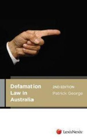 Cover of Defamation Law in Australia