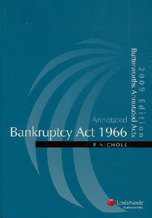 Cover of Bankruptcy Act 1966
