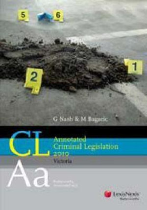 Cover of Annotated Criminal Legislation 2010