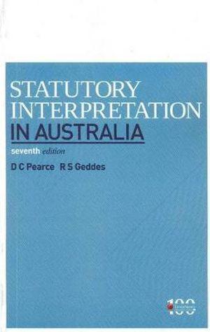 Cover of Statutory Interpretation in Australia, 7th edition