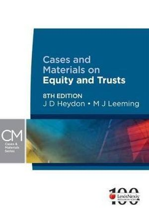 Cover of Cases & Materials on Equity & Trusts - 8th Edition