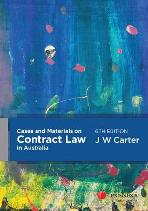 Cover of Carter's Guide to Australian Contract Law - 2nd edition