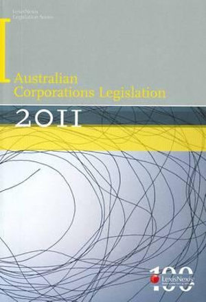 Cover of Australian Corporations Legislation 2011