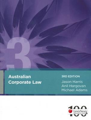 Cover of Australian Corporate Law - 3rd Edition