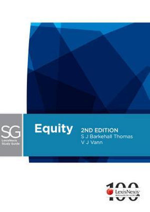 Cover of LexisNexis Study Guide: Equity - 2nd Edition
