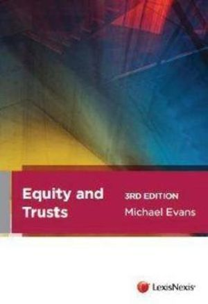 Cover of Equity and Trusts - 3rd Edition