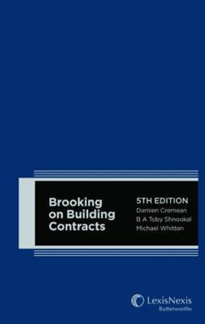Cover of Brooking on Building Contracts