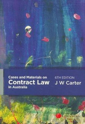 Cover of Cases and Materials on Contract Law in Australia - 6th Edition