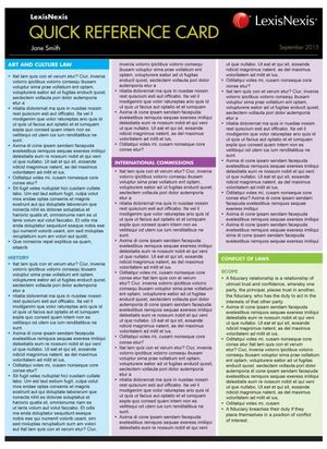 Cover of Quick Reference Card