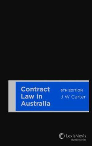 Cover of Contract Law in Australia, 6th Edition (Softcover)