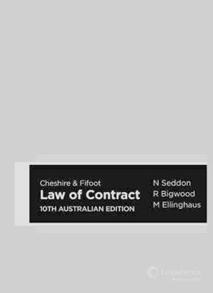 Cover of Cheshire and Fifoot Law of Contract