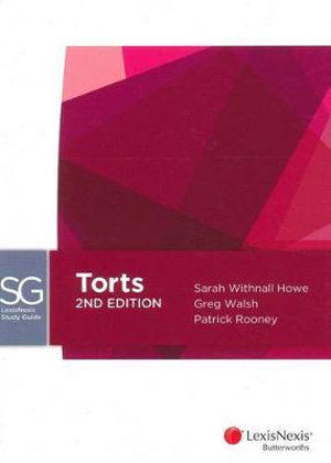 Cover of LexisNexis Study Guide: Torts, 2nd Edition