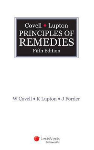Cover of Covell and  Lupton Principles of Remedies - 5th Edition