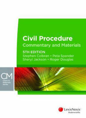 Cover of Civil Procedure: Commentary & Materials, 5th Edition