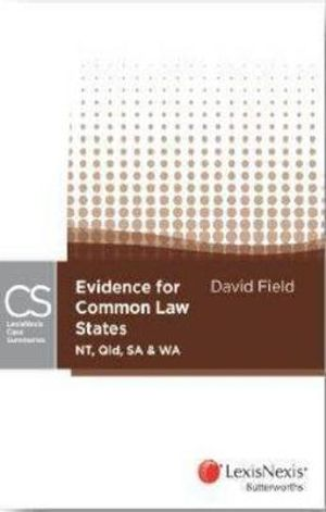 Cover of Evidence for Common Law States (NT, Qld, SA and WA)