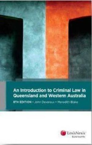 Cover of Kenny Criminal Law in Queensland and Western Australia