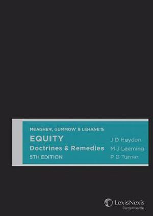 Cover of Meagher, Gummow & Lehane's Equity Doctrines & Remedies