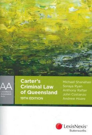 Cover of Carter's Criminal Law of Queensland